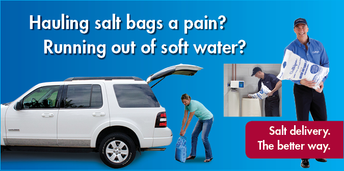 Hauling salt bags a pain? Running out of soft water? Salt delivery. The better way.